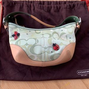 Small Coach lady bug shoulder bag